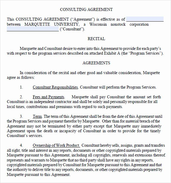 Consulting Agreement Template Free Beautiful Sample Consulting Agreement 14 Documents In Pdf Word