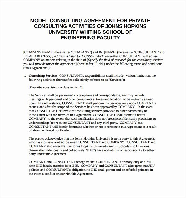 Consulting Agreement Template Free Best Of Consulting Agreement 15 Pdf Doc Download