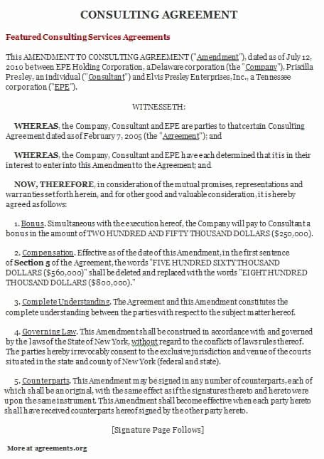 Consulting Agreement Template Free Best Of top 5 formats for Consulting Agreement Templates Word