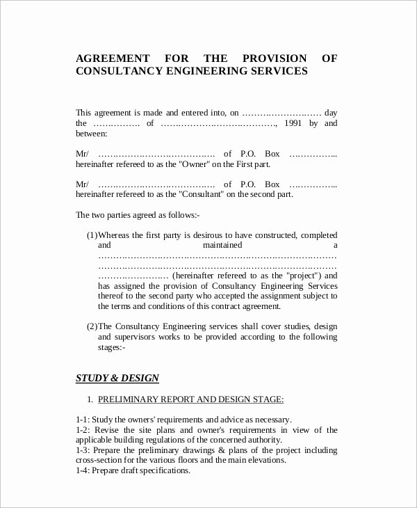 Consulting Agreement Template Free Lovely Sample Standard Consulting Agreement 12 Documents In