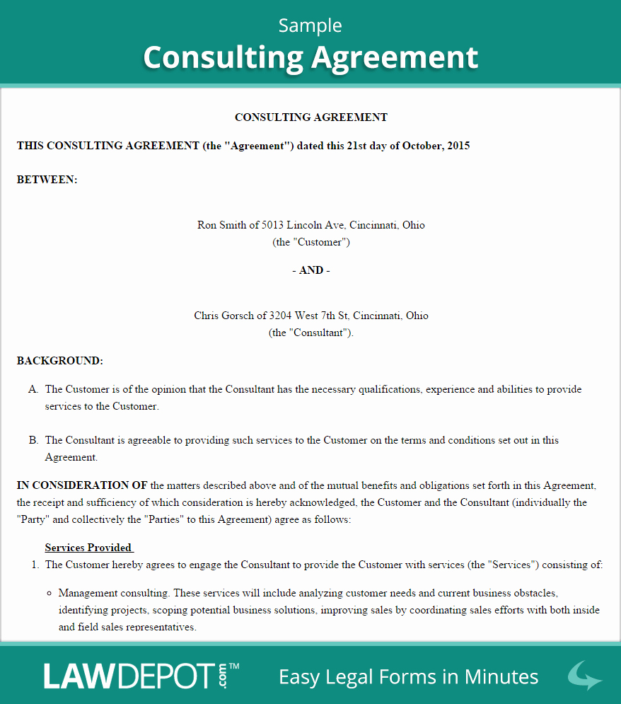 Consulting Agreement Template Free New Consulting Agreement Template Us