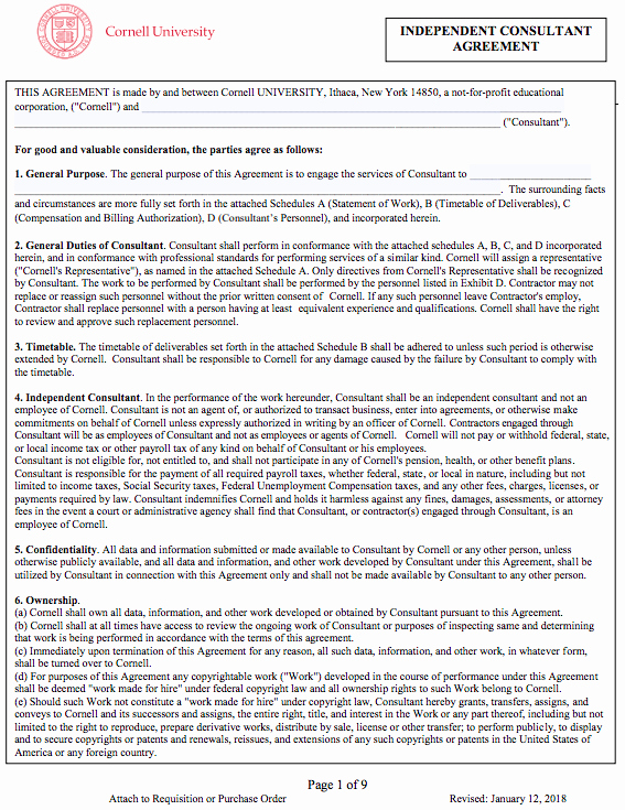Consulting Agreement Template Free New Simple Consulting Agreement Template
