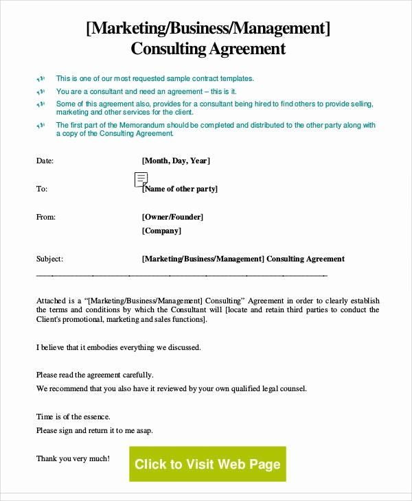 Consulting Agreement Template Free Unique 21 Consulting Agreement forms Word Pdf