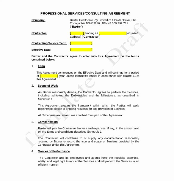 Consulting Agreement Template Word Awesome 18 Consulting Agreement Sample Templates Word Docs