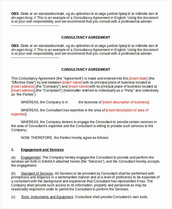 Consulting Agreement Template Word Best Of 18 Consulting Agreement Templates Word Docs