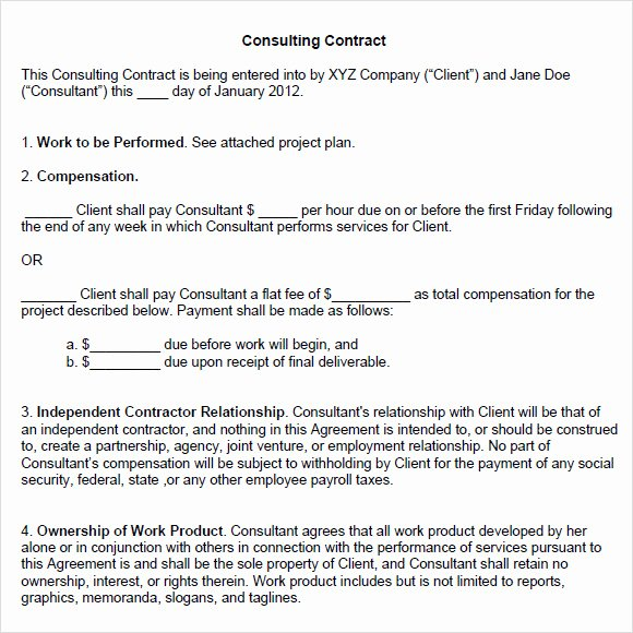 Consulting Agreement Template Word Luxury Sample Consulting Agreement 14 Documents In Pdf Word