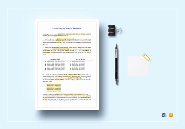 Consulting Agreement Template Word Unique 17 Consulting Contract Templates Word Pdf Apple Pages