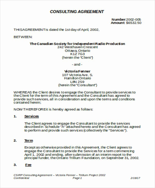 Consulting Contract Template Word Awesome Consulting Agreement Samples In Word 11 Examples In Word