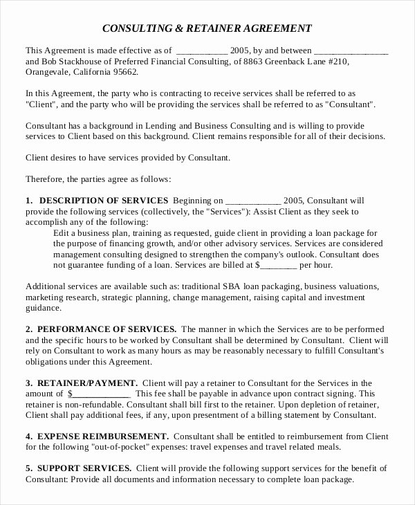 Consulting Contract Template Word Elegant 18 Consulting Agreement Templates Word Docs