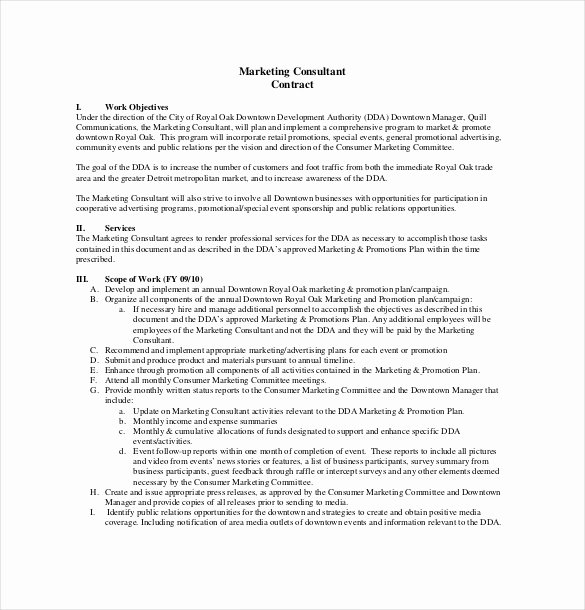 Consulting Contract Template Word Elegant 24 Consultant Agreement Templates Word Docs