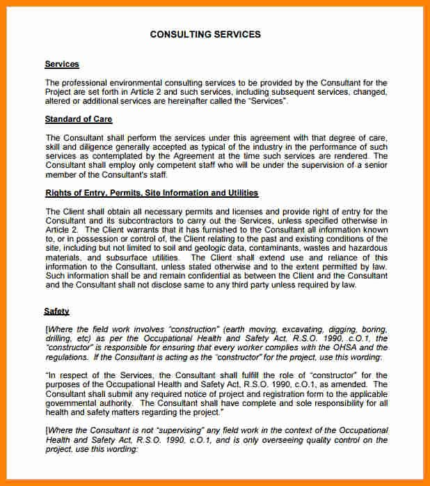 Consulting Contract Template Word Inspirational 4 Consulting Contract Template Free