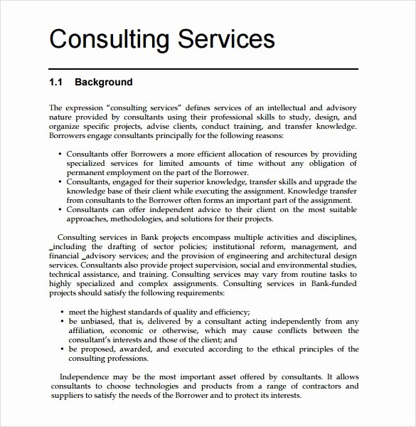 Consulting Proposal Template Word Fresh Consultant Proposal Template 7 Download Documents In Pdf