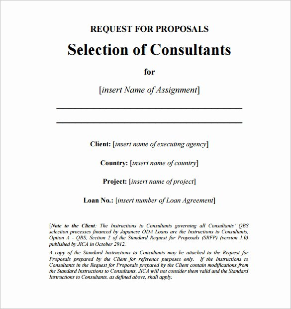 Consulting Proposal Template Word Fresh Consulting Proposal Template