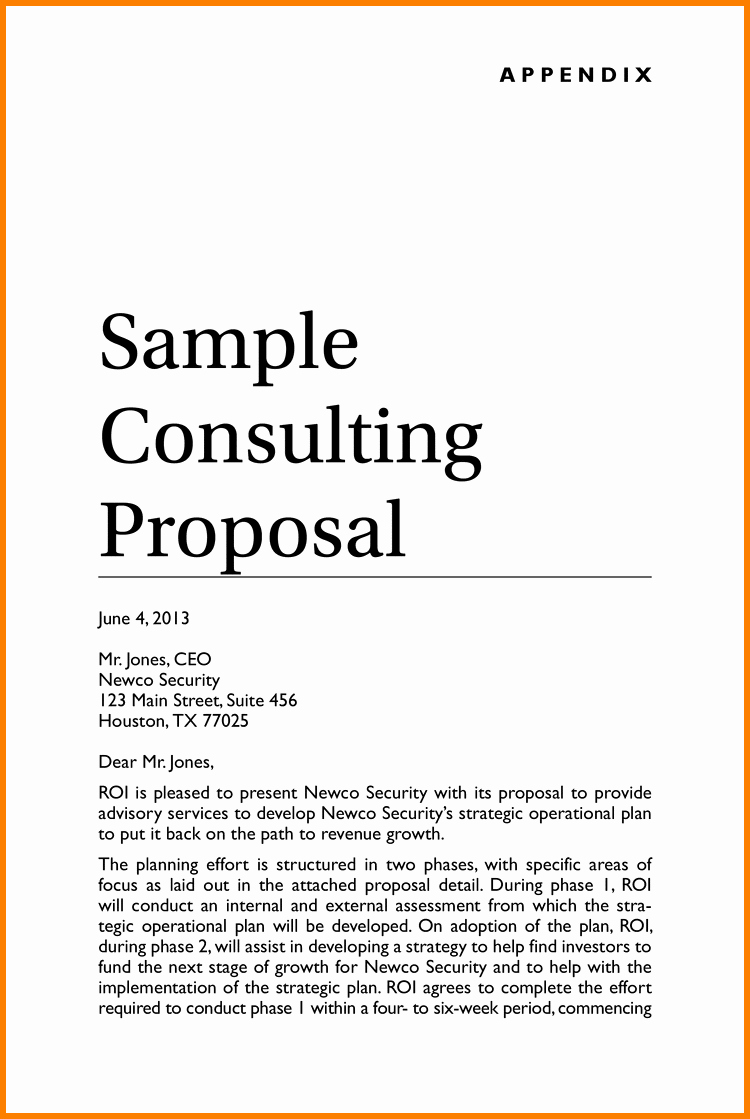 Consulting Proposal Template Word Lovely Consulting Proposal Template