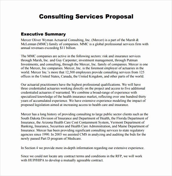 Consulting Proposal Template Word Luxury Consultant Proposal Template 7 Download Documents In Pdf