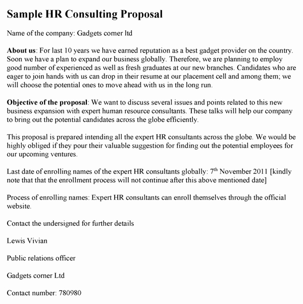Consulting Proposal Template Word Luxury Consulting Proposal Template