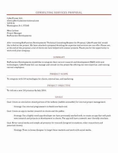 sample proposal templates