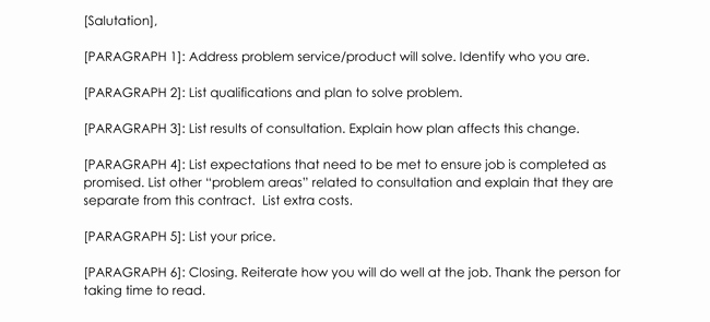 Consulting Proposal Template Word New Consulting Proposal Templates and Letters with 5 Best Examples