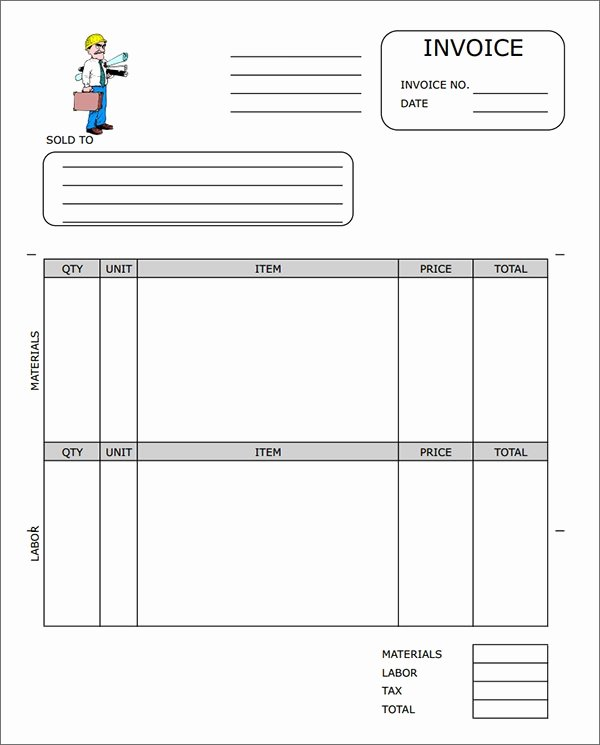 Contractor Invoice Template Free Beautiful Sample Contractor Invoice Templates 14 Free Documents