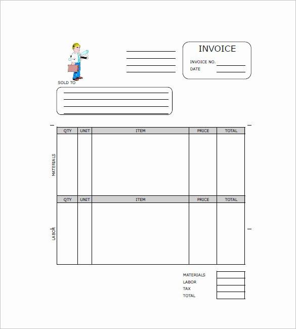 Contractor Invoice Template Free Elegant Contractor Invoice Templates 14 Free Word Excel Pdf