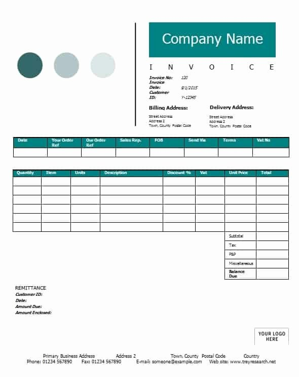 Contractor Invoice Template Free Fresh Contractor Invoice Template Printable Word Excel