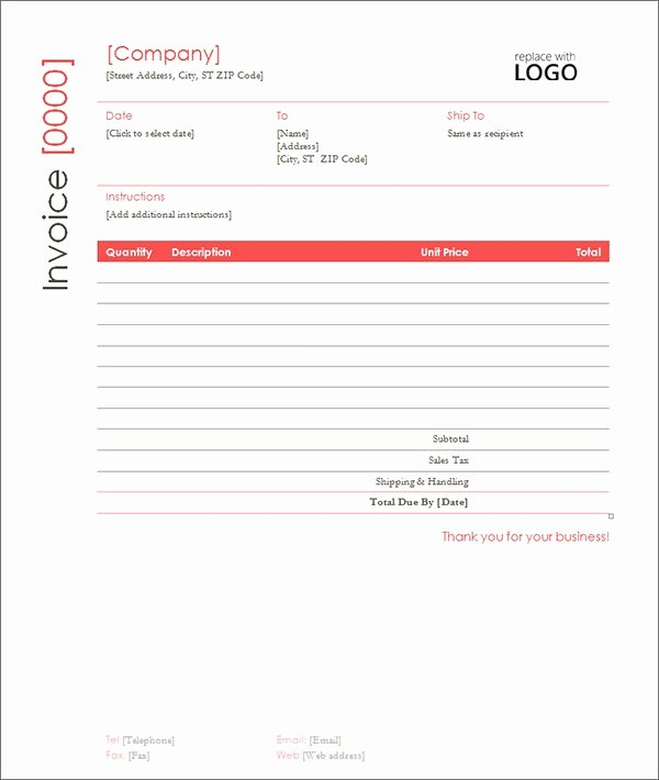 Contractor Invoice Template Free Lovely Sample Contractor Invoice Templates 14 Free Documents