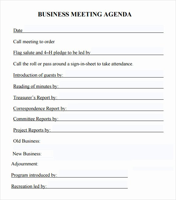 Corporate Minutes Template Word Best Of Free 5 Sample Business Meeting Agenda Templates In Pdf