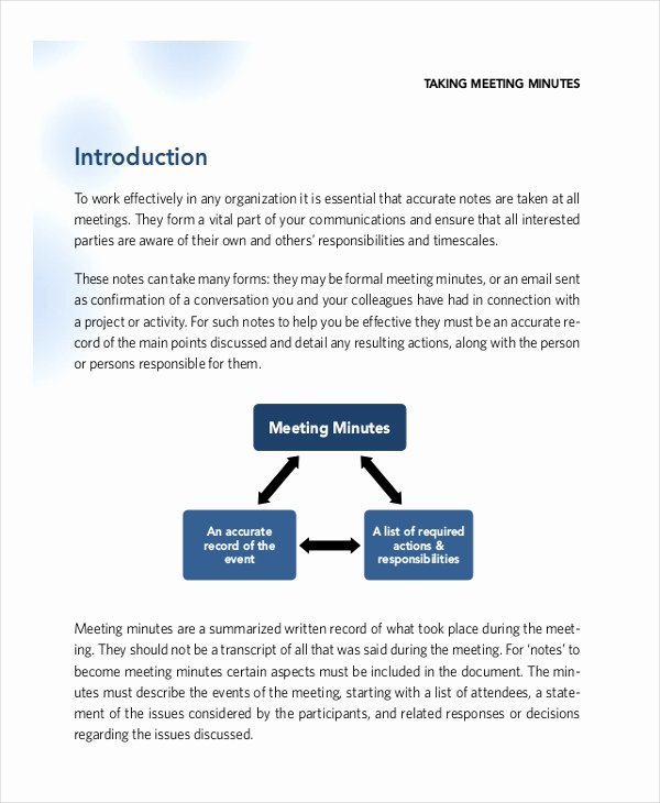 Corporate Minutes Template Word Inspirational Corporate Minutes Template – 10 Free Word Pdf Documents