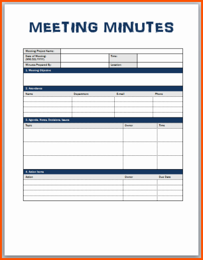 Corporate Minutes Template Word New 7 Meeting Minutes Template Word