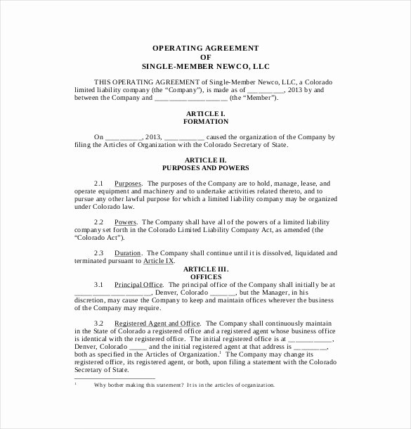 Corporate Operating Agreement Template Beautiful 9 Business Operating Agreement Examples Pdf