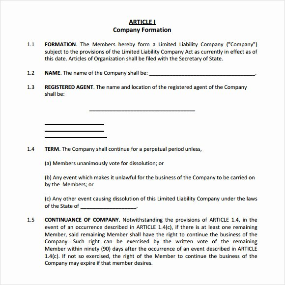 Corporate Operating Agreement Template Elegant Corporate Operating Agreement