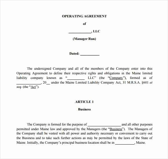 Corporate Operating Agreement Template Inspirational S Corp Operating Agreement