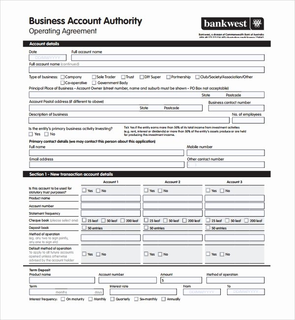 Corporate Operating Agreement Template Lovely Sample Business Operating Agreement 7 Free Documents