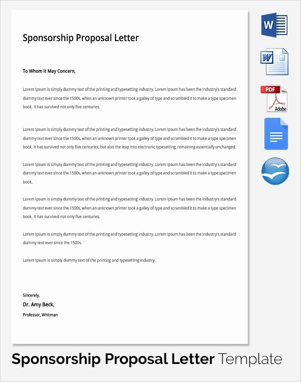 Corporate Sponsorship Proposal Template Awesome 19 Sample Sponsorship Proposal Templates