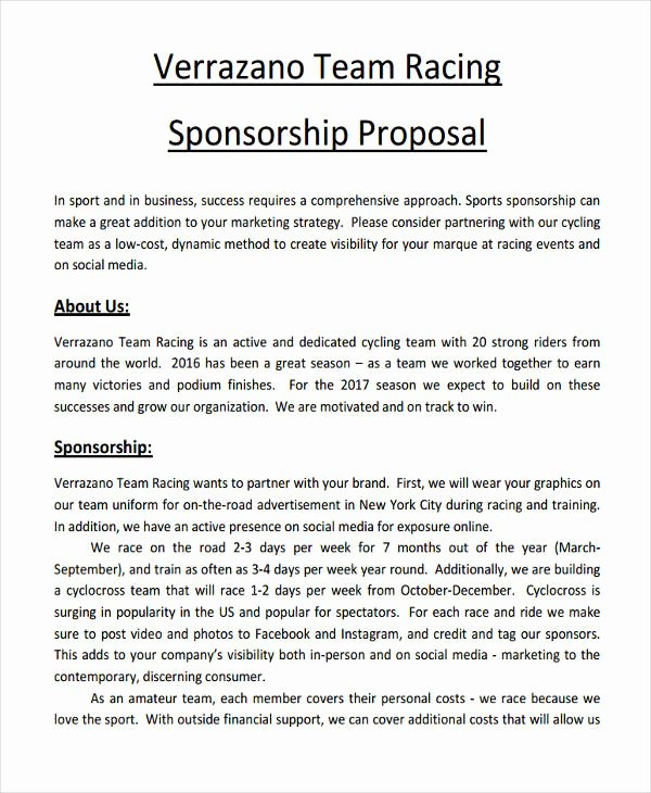 Corporate Sponsorship Proposal Template Best Of Free 15 Sponsorship Proposal Examples & Samples In Pdf