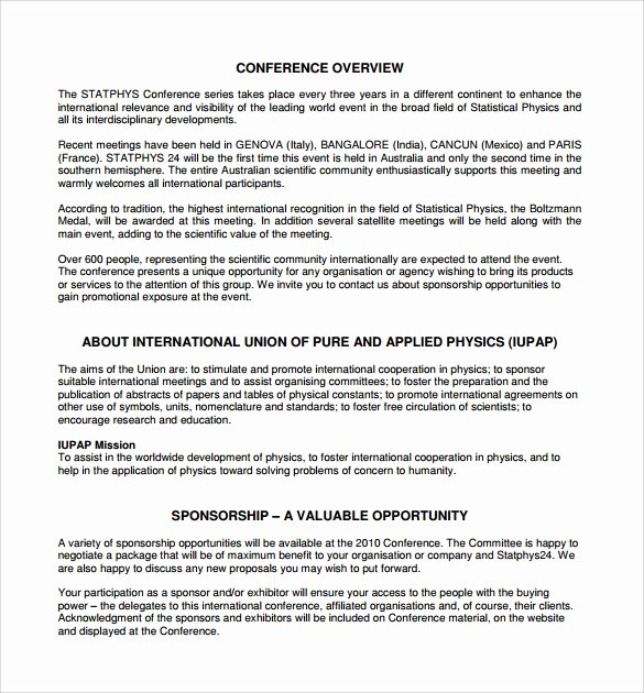 Corporate Sponsorship Proposal Template Fresh Download Free software Corporate Sponsorship Proposal