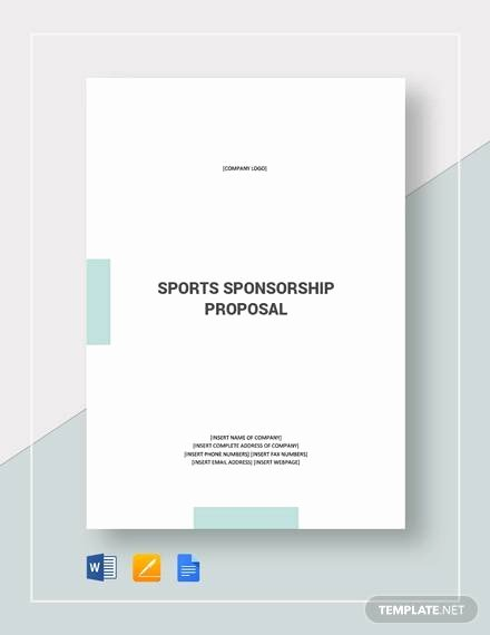 Corporate Sponsorship Proposal Template Fresh Free 17 Sample Sponsorship Proposal Templates In Google
