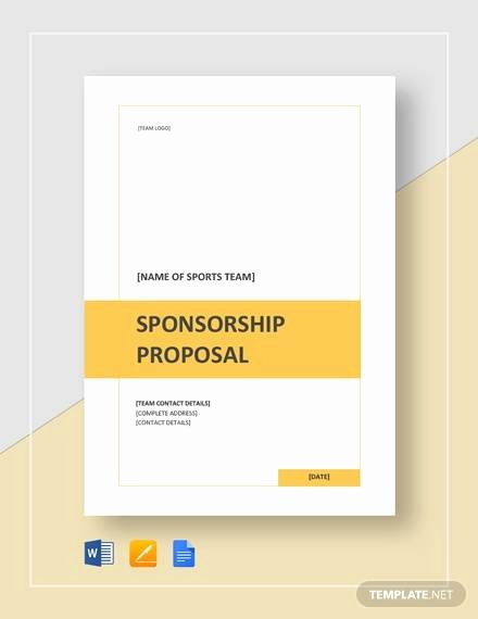 Corporate Sponsorship Proposal Template Inspirational Free 17 Sample Sponsorship Proposal Templates In Google
