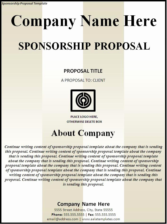 Corporate Sponsorship Proposal Template Luxury Sponsorship Proposal Template