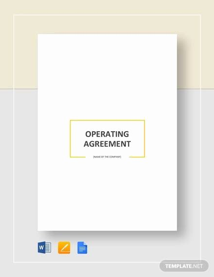 Corporation Operating Agreement Template Inspirational Free 11 Sample Operating Agreement Templates In Google