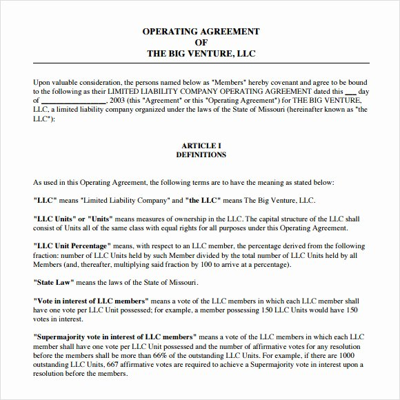Corporation Operating Agreement Template Unique 13 Sample Operating Agreements Pdf Word