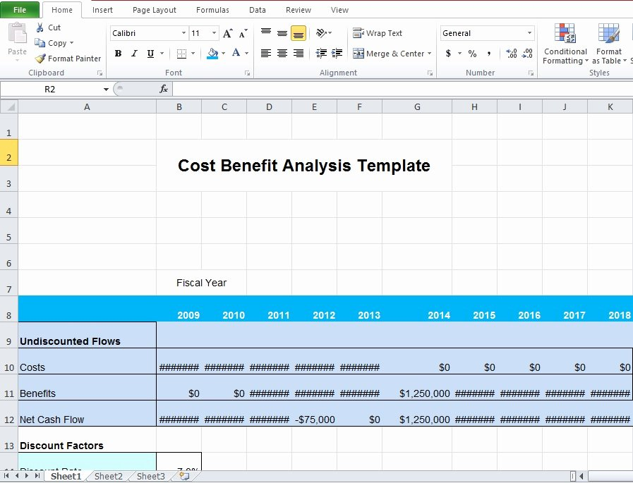 Cost Analysis Excel Template Inspirational Download Business Cost Benefit Analysis Template for