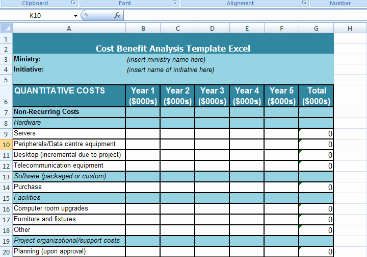 Cost Analysis Excel Template Luxury Get Cost Benefit Analysis Template Excel Microsoft Excel