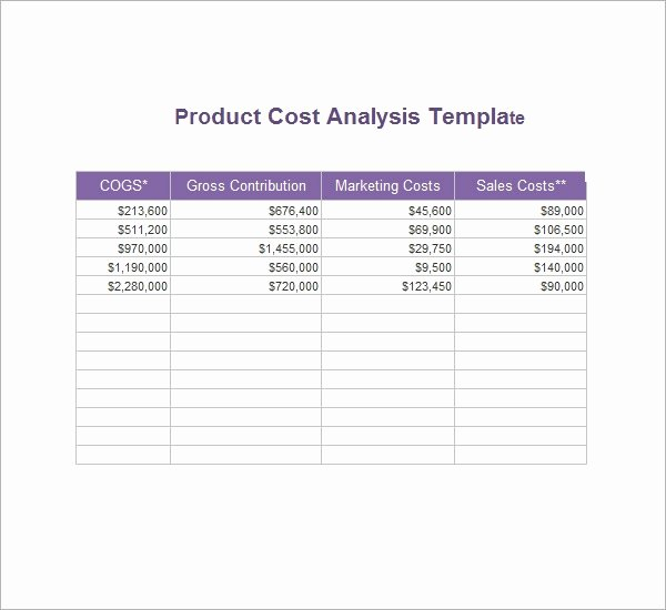 Cost Analysis Template Excel Best Of Cost Analysis Template 8 Download Free Documents In Pdf