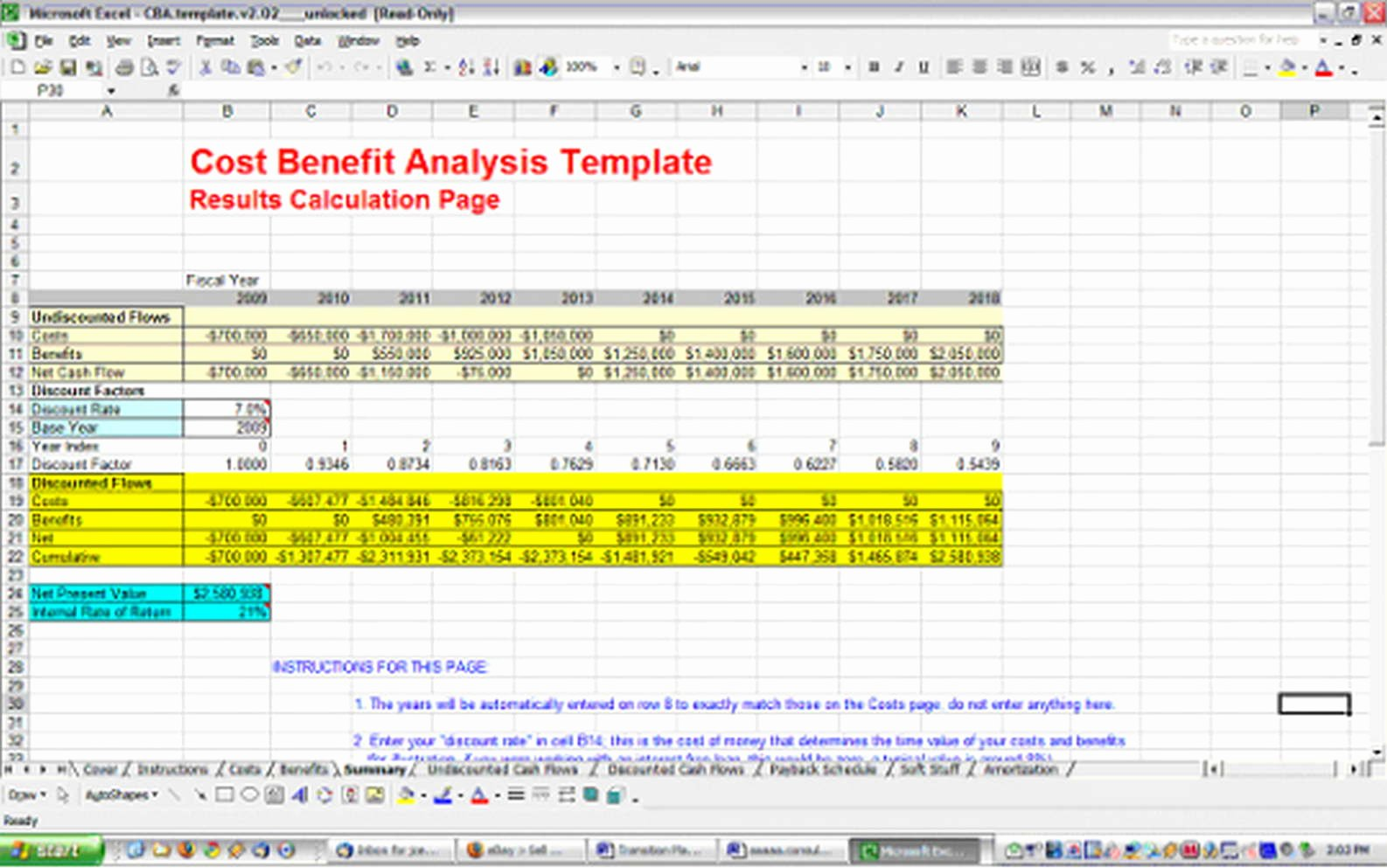 Cost Analysis Template Excel Best Of Cost Benefit Analysis Template
