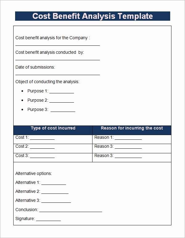 Cost Benefit Analysis Template Excel Elegant Cost Benefit Analysis Template 13 Download Free