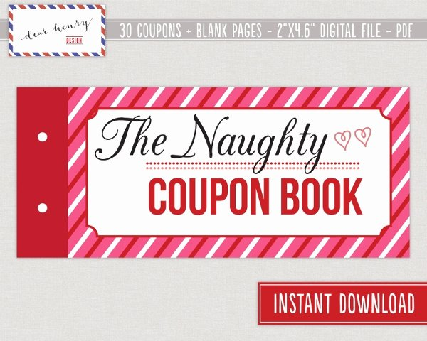 Coupon Book for Boyfriend Template Elegant 10 Coupon Book Templates Free Sample Example format