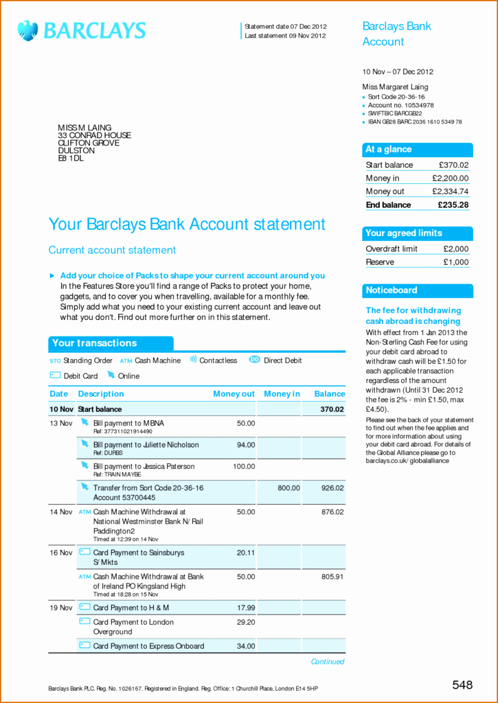 Create Fake Bank Statement Template Elegant Fake Bank Statements Templates Download
