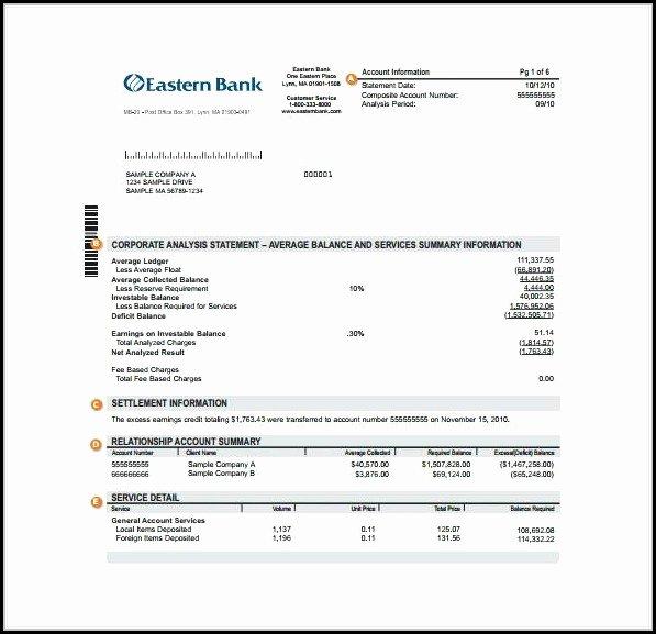 Create Fake Bank Statement Template Elegant Fake Chase Bank Statement Template Free Template 1