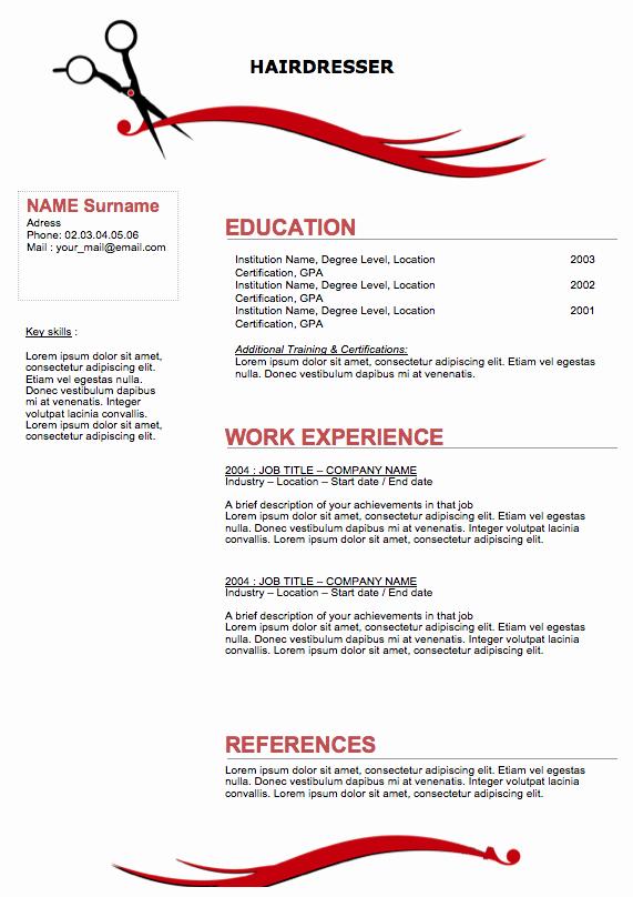 Creative Hair Stylist Resume Templates Best Of Sample Hair Stylist Resume Sample Resumes